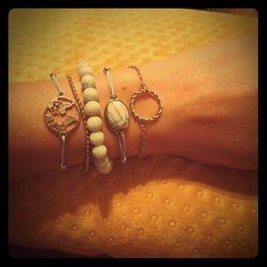 Jewelry - 5 Baby blue fashion accent bracelets-NEW